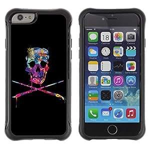 Hybrid Anti-Shock Defend Case for Apple iPhone 6 4.7 Inch / Art Pirate WANGJING JINDA