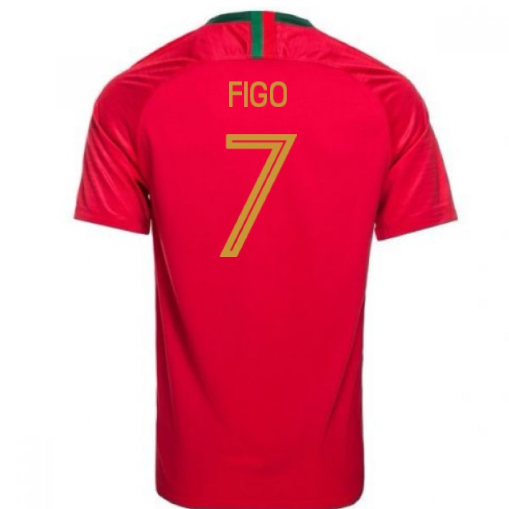 人気定番の 2018-2019 Portugal Home Nike Football Shirt (Figo 7) Home Football B07DK6JK4T 42-44