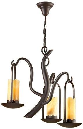 SCHULLER | Lámpara de forja : Colección CANDELA de 3 luces. | Decoracion Hogar