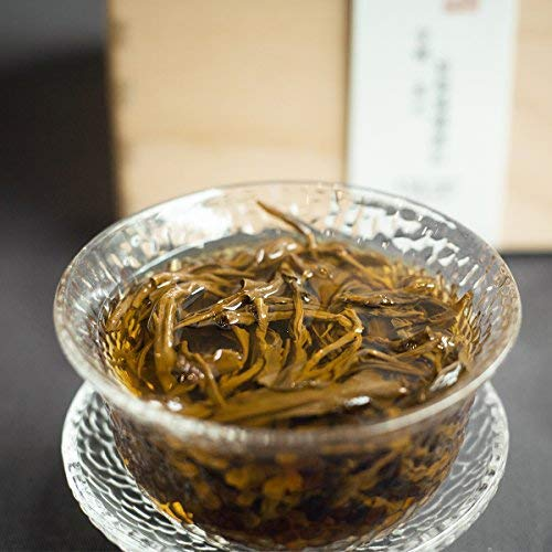 Nanjie black tea, 2018 [wild ancient tree dianhong] gongfu black tea, dian black tea [wild ancient tree black tea] mellow taste, full and non-astringent, long-lasting aroma, 15.8ounces,giving gift box by NanJie (Image #4)