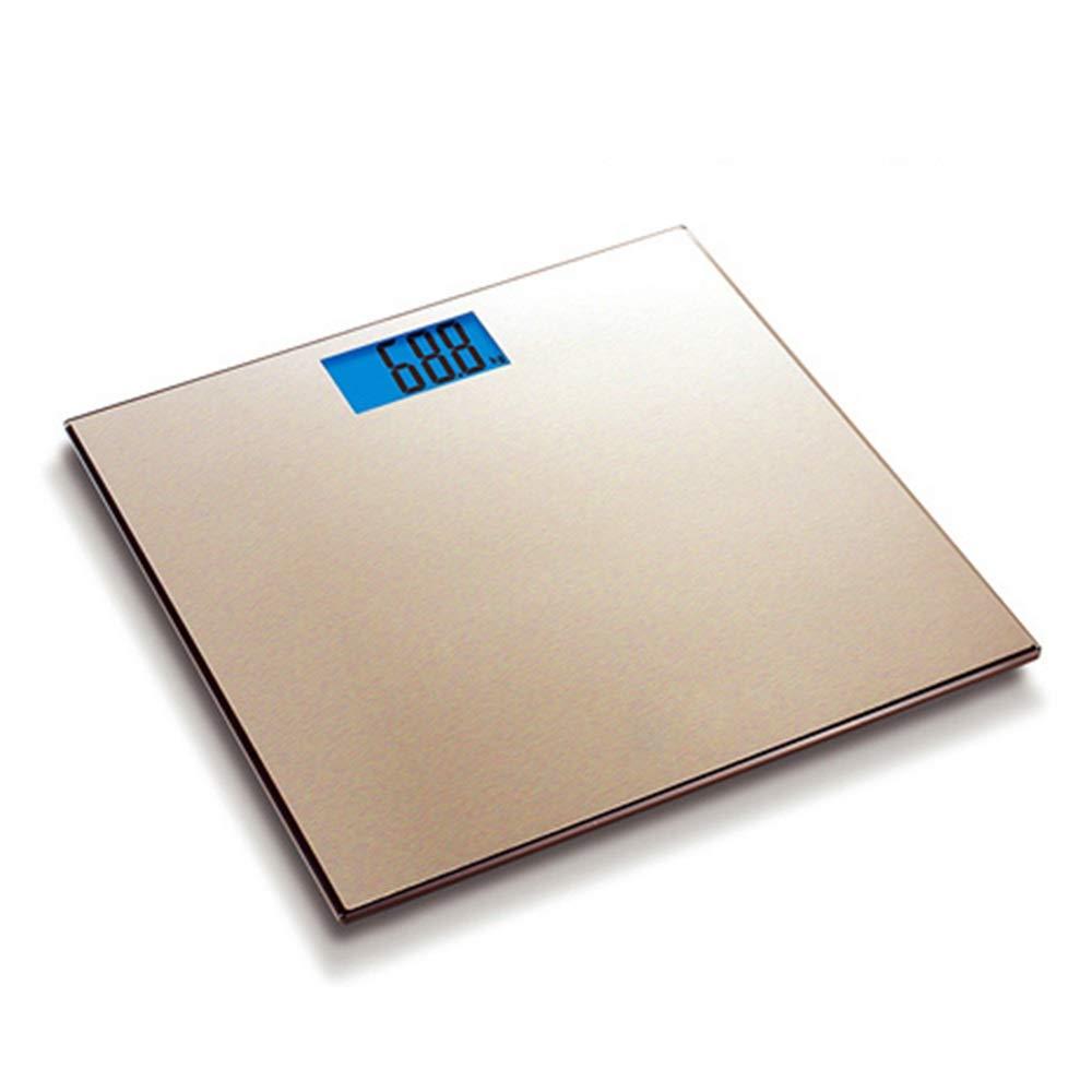 XF 体重計体脂肪計 体重計 - 精密減量計量機器起毛パネルデジタル計量体重計(ゴールド) 測定器 B07NRYDCDS