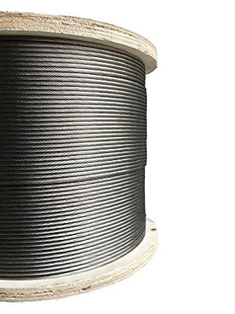 Amazon.com: Acero inoxidable Aviones Tipo de cable 1/8
