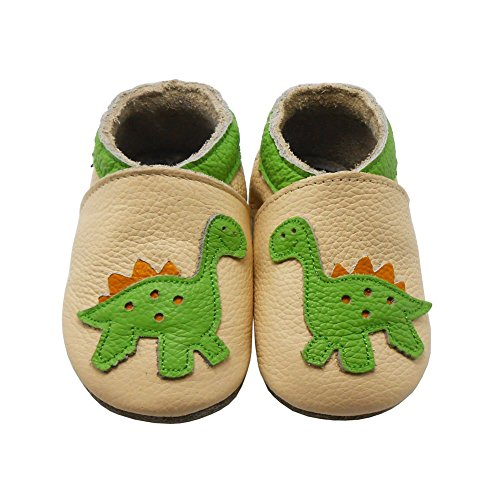 Sayoyo Baby Dinosaurs Soft Sole Leather Infant And Toddler Shoes