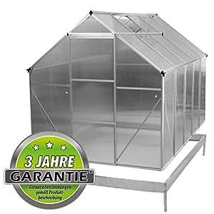 Nexos Trading - Invernadero de aluminio (4,75 m², con marco para suelo)