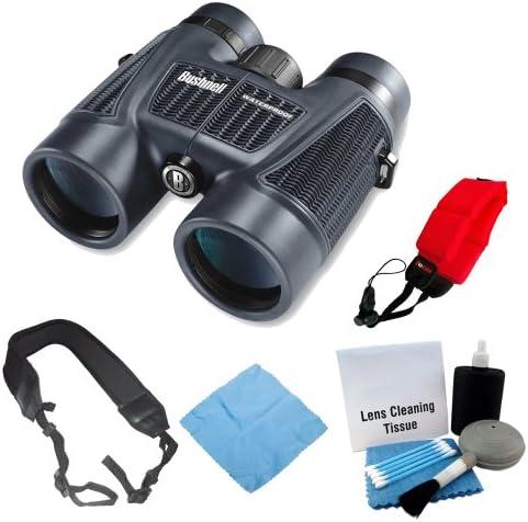 Bushnell H2O 10x42 Waterproof Binoculars with Accessories Bundle