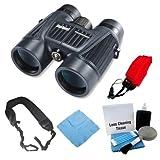 Bushnell H20 WP 10X42 Black Binoculars RP BAK-4 WP/FP Twist Up Eyecups + Strap For Sale