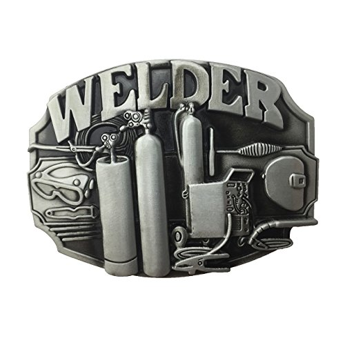 Lanxy Native American Welding Torch Industry Welder Tool Pewter New Belt Buckle For Men