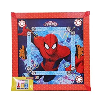 Marvel Carrom Board - Ultimate Spider Man, Multi Color (20x20 Size)