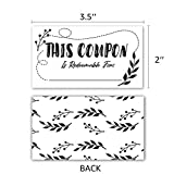 "50 Coupon Cards (3.5"" x 2"") Blank Gift Certificate"