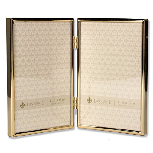 Lawrence Frames 4x6 Hinged Double Simply Gold Metal Picture - Frame Gold Double