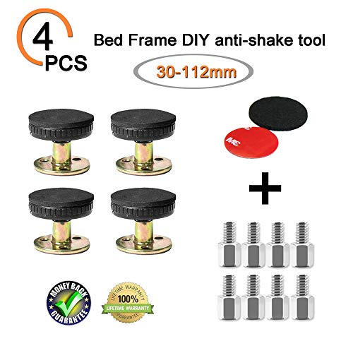Great Features Of Adjustable Threaded Bed Frame Anti-Shake Tool for Bed, Telescopic Support for Room...