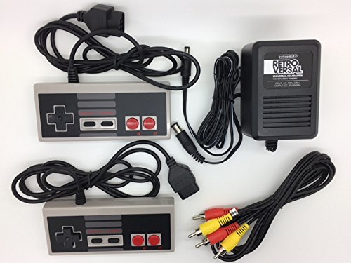 NES Nintendo Two NES Controllers, AV Cable and Power Adapter Bundle for the Original NES Nintendo Console System TBGS Entertainment Bundle