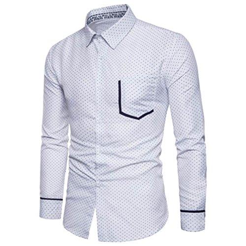 De Ocasional De Oyedens Impresiã³N Manga La De De Superior Larga La Blusa Hombres Personalidad Camisa Moda De Blanco Delgada La De Los ZZUPnq4