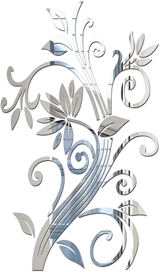 Floral Butterfly Flower Vine Wall Stickers DIY Art Decor Mural Room Vinyl Decal