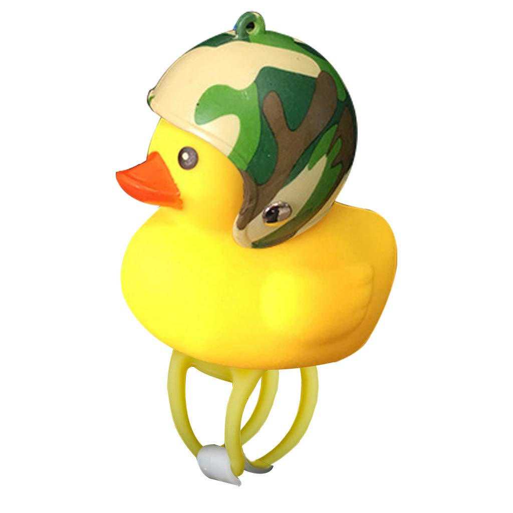 erthome Cartoon Duck Head Light Shining Duck Bicycle Bells Handlebar Bicycle Accessories Special for Night Cycling Fashion