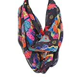 Laurel Burch Butterfly Artistic Infinity Scarf Wrap