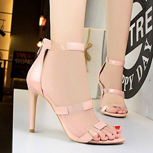Stiletto Donna 8 Zanpa Sandals Mode rosa Colors 46TBqExBw