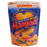 Philippine Brand Dried Mango, 14-Ounce Pouches (Pack of 2) For Sale