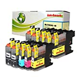 ink4work Set of 10 Pack LC103 LC-103 High Yield Compatible Ink Set and Wristband for Brother MFC-J285DW, MFC-J4310DW, MFC-J4410DW, MFC-J450DW, MFC-J4510DW, MFC-J4610DW, MFC-J470DW, MFC-J4710DW, MFC-J475DW, MFC-J870DW, MFC-J875DW, Office Central