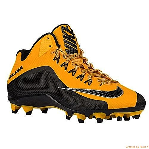 Pittsburgh Pro Football - Nike Alpha Pro 2 3/4 TD PF Pittsburgh Steelers Men's Football Cleats 15 US Gold-Black