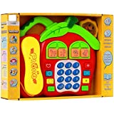 BabyGo Cartoon Music Phone Toy Telephone For Learning and Education with Music (Multicolor Multidesigns)