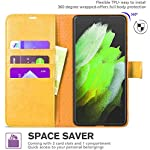 Perkie Vintage Series, Faux Leather Wallet Flip Case Kick Stand Magnetic Closure Flip Cover for Redmi 9 Power (Mustard)