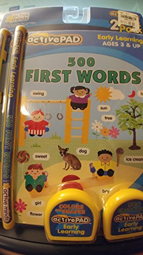 2 Active Pad Books: 500 First Words and Colors & Shapes