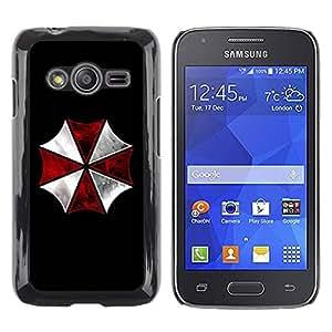 Caucho caso de Shell duro de la cubierta de accesorios de protección BY RAYDREAMMM - Samsung Galaxy Ace 4 G313 SM-G313F - Umbrella Corp Evil
