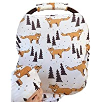 Rosy Kids Stretchy Infant Car Seat Canopy Cover, Jersey Car Seat Cover Elasti...