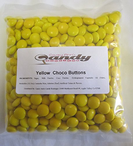 Yellow Choco Candy Buttons 1 lb -