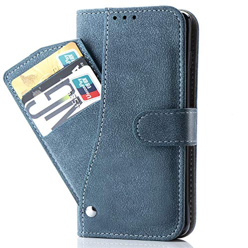 Galaxy Core Prime Case,Phone Cases Wallet Leather with Credit Card Holder Slim Kickstand Stand Feature Flip Folio Protective Cover for Samsung Galaxy Galaxy Core Prime G360 Women Girls Men Blue