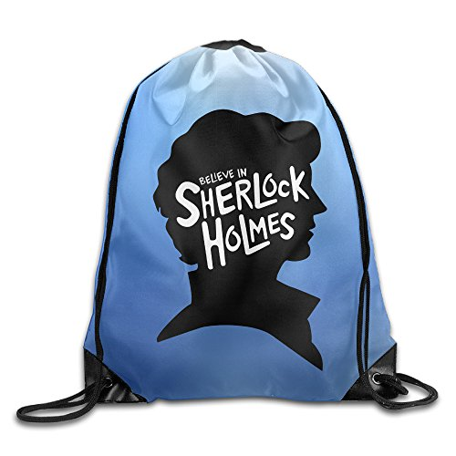Sherlock Holmes Benedict Cumberbatch Drawstring Backpack Bag White For Sale