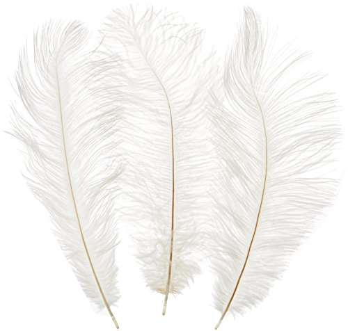 Kayso 100pcs New Style Real Natural 12-14 Inch(30~35cm) Ostrich Feathers Great Decorations (White) ()