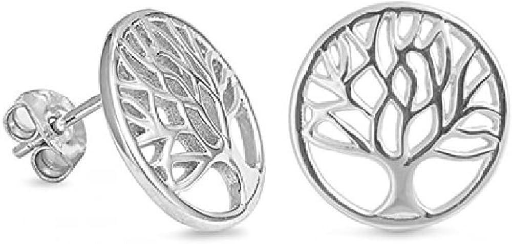 Pendientes Árbol de la Vida de Plata Collar arbol Vida Colgante arbol de la Vida Plata de Ley símbolo Familiar Colgante arbol de la Vida Plata Colgante Plata Mujer para regalos originales