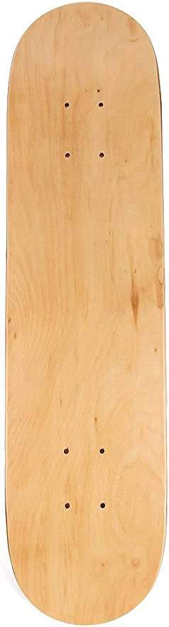Binchil 8Inch 8-Layer Maple Blank Double Concave Skateboards Natural Skate Deck Board Skateboards Deck Wood Maple