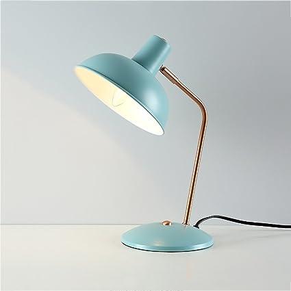 Lámpara de Escritorio Moderno Lámpara de Mesa LED Moderno Moderno Macaron Creative Dormitorio Dormitorio LED Luces