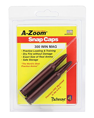 A-Zoom 300 Win Mag Precision Snap Caps (2 pack) (Best Round For 300 Win Mag)