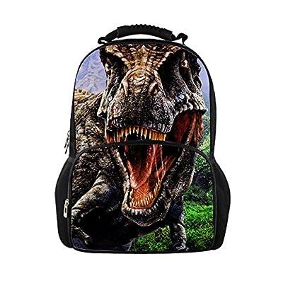 low-cost HUGS IDEA Cool 3D Zoo Animals Dinosaur Backpacks Men Travel Bag
