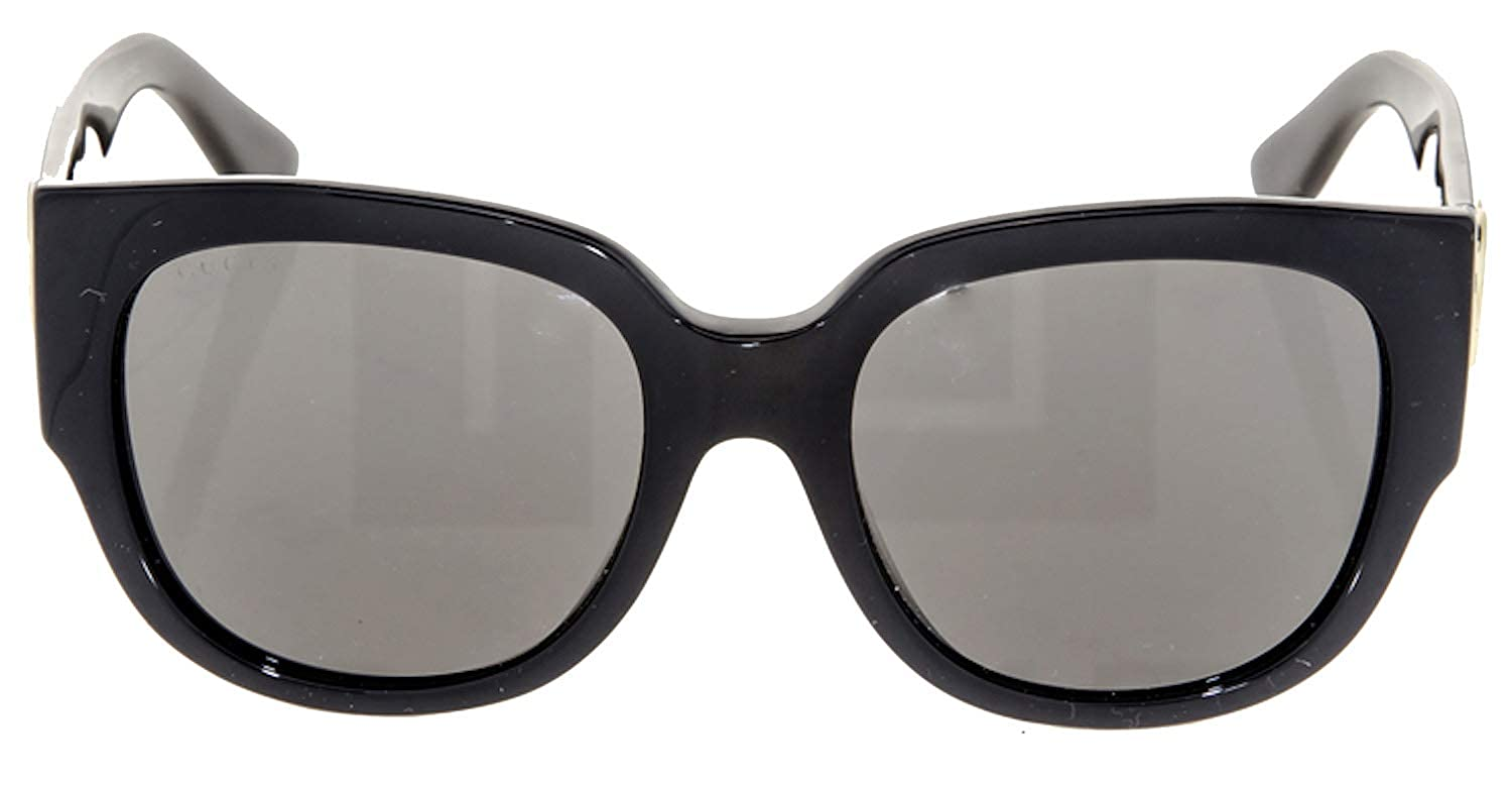 167d56744bf0a Amazon.com  Gucci Asian Fit Oversize Shiny Black Sunglasses GG 3836   D28 NR   Clothing