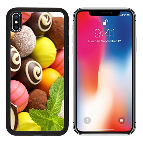 MSD Premium Apple iPhone X Aluminum Backplate Bumper Snap Case IMAGE ID: 28592451 Assorted chocolate truffles and fruit ganache pralines (Truffle Filling)