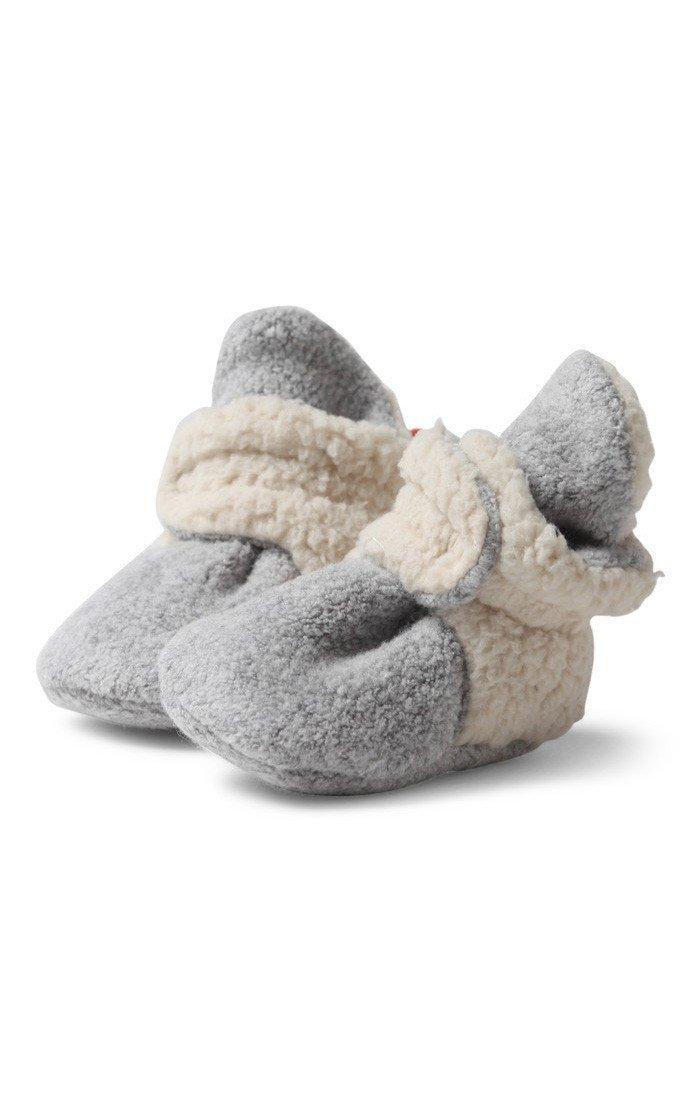 Zutano Unisex Baby Fleece w/Furry Baby Booties, 6M,Heather Gray Furry