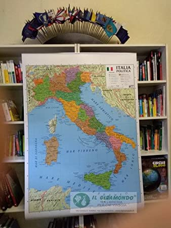 Cartina Italia Amazon.Librolandia Cartina Italia Fisica Politica 100x140 Amazon It Giochi E Giocattoli