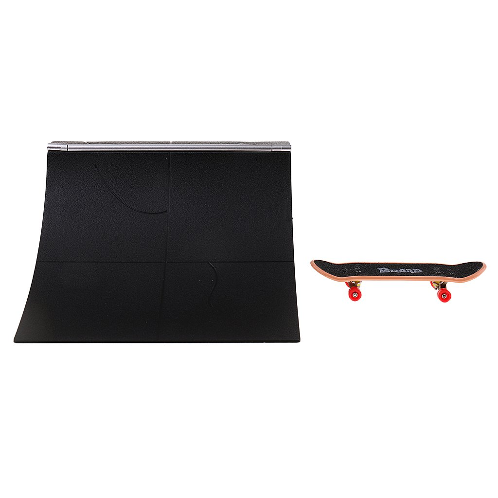 Fityle Mini Skateboard Toy Ultimate Park for Desk Deck Fingerboard Skateboard Ramps #B