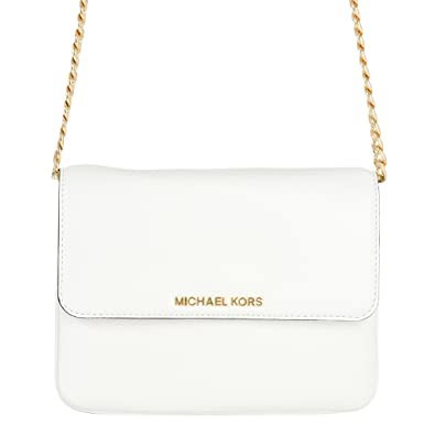 c728a31a9179 Michael Kors - Bedford Flap Crossbody Bag, White 001: Amazon.co.uk: Clothing