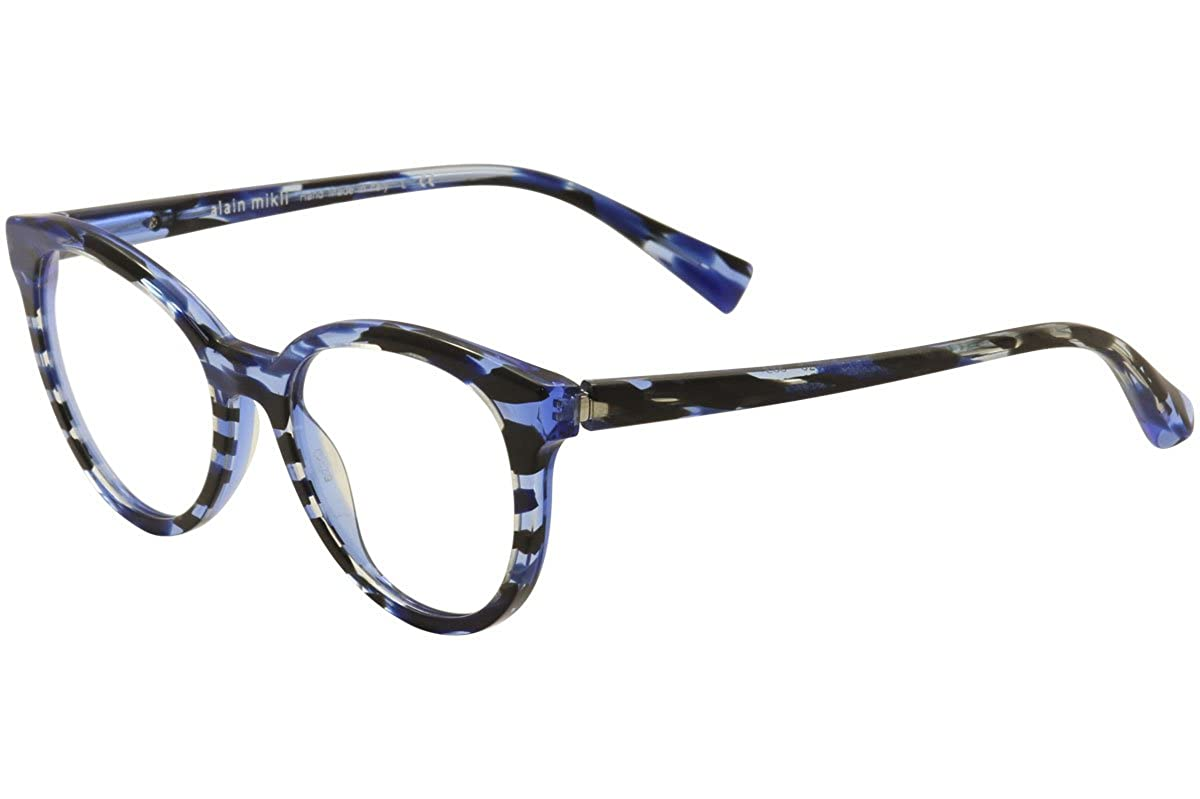 Alain Mikli Eyeglasses A03070 A0//3070 003 Blue Havana Round Optical Frame 52mm