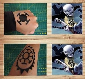 One piece one piece trafalgar law cosplay tattoo seal arm for One piece law tattoos