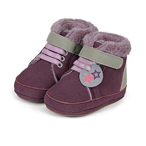 Sterntaler Baby Mädchen Sneaker Violett (Aubergine 607)