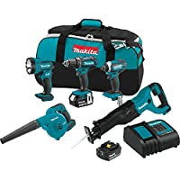 Deals on Makita XT506S 18V LXT Lithium-Ion Cordless 5 Piece Combo Kit