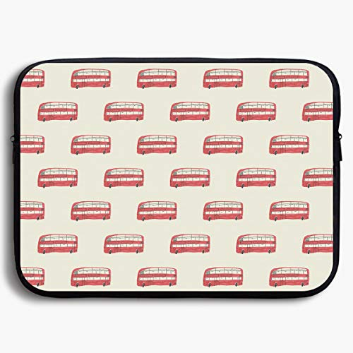 Homlife Laptop Sleeve Bag London Bus Vintage Elements 13/15 Inch Briefcase Sleeve Bags Cover Notebook Case Waterproof Portable Messenger Bags -
