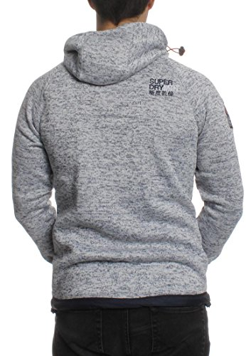 Superdry Zipper Men STORM DOUBLE ZIPHOOD Raw Denim Grit